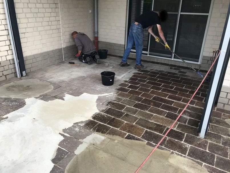 Steinteppich verlegen, Vorbereitung